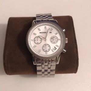 Michael Kors Silver watch with diamonds